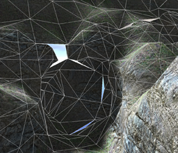 Multiresolution voxel terrain boundary artifacts wireframe