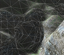 Multiresolution transvoxel stitching on voxel terrain wireframe